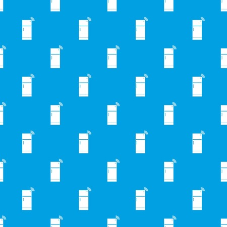 Fridge pattern repeat seamless in blue color for any design. Vector geometric illustration