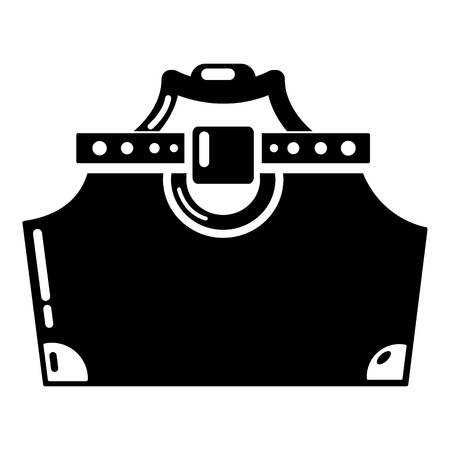 Travel bag woman icon, simple black style