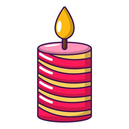 Candle holiday icon, cartoon style