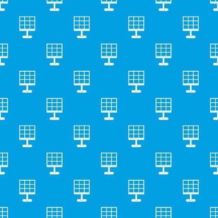 Solar battery pattern repeat seamless in blue color for any design. Vector geometric illustration Ilustração