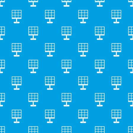 Solar battery pattern repeat seamless in blue color for any design. Vector geometric illustration Illustration