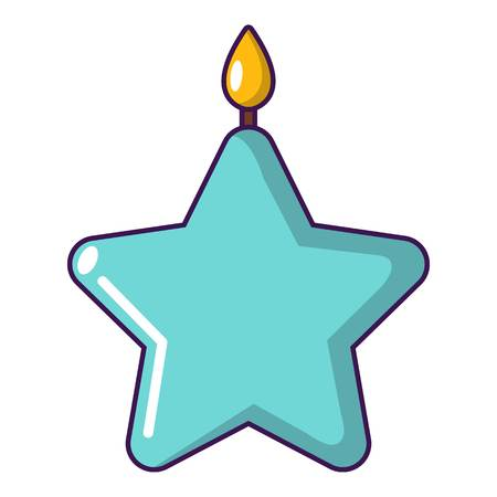 Candle star icon. Cartoon illustration of candle star vector icon for web