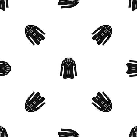 Jacket pattern repeat seamless in black color for any design. Vector geometric illustration