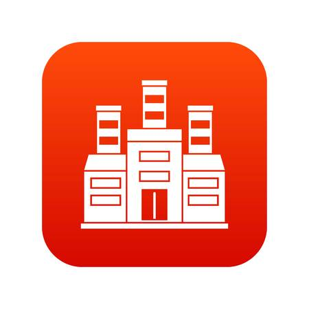 Refinery icon digital red Vector illustration.