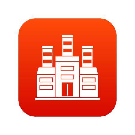 Refinery icon digital red Vector illustration.