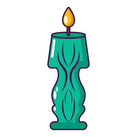 Candle bright icon, cartoon style