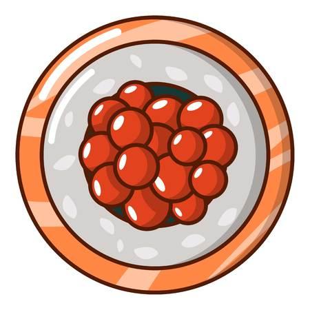 Sushi caviar icon, cartoon style