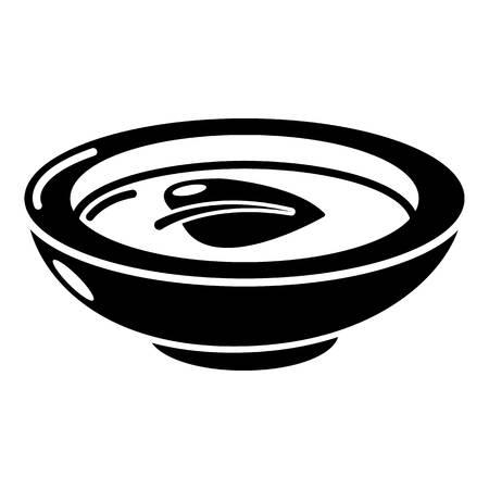간장 접시 아이콘, 간단한 검은 스타일 일러스트
