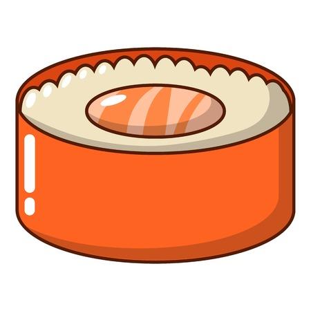 Sushi fish icon, cartoon style