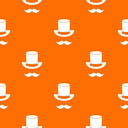 Magic black hat and mustache pattern seamless  イラスト・ベクター素材