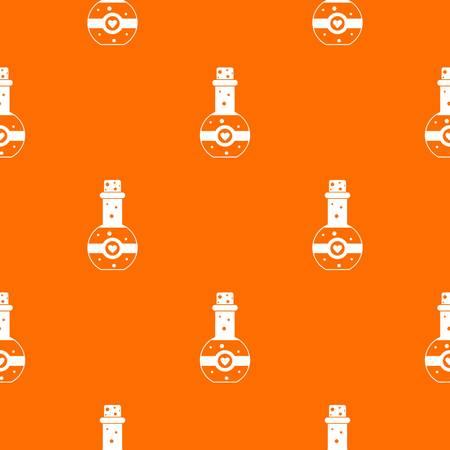 Flask of love elixir pattern seamless