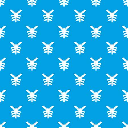 Human thorax pattern seamless blue Ilustração