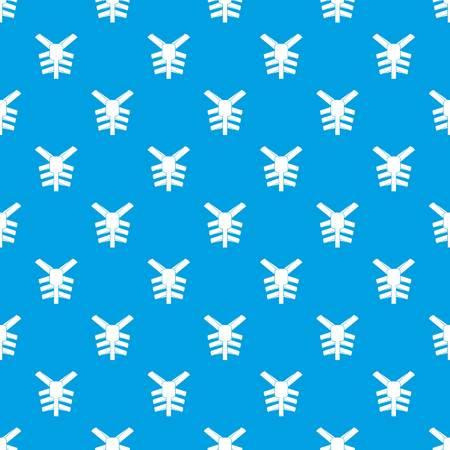 Human thorax pattern seamless blue Illustration