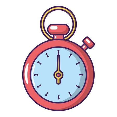 Cartoon illustration of stopwatch vector icon for web.
