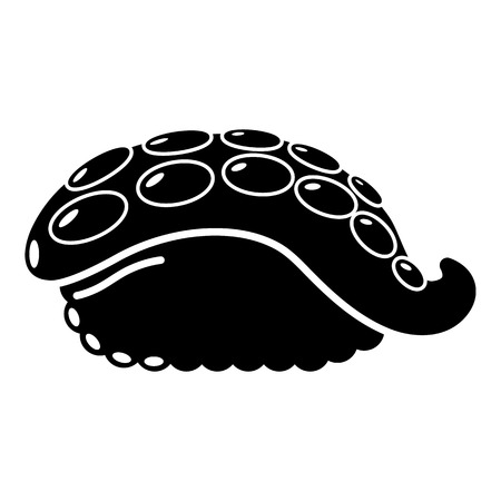 Sushi octopus icon. Simple illustration of sushi octopus vector icon for web Illustration