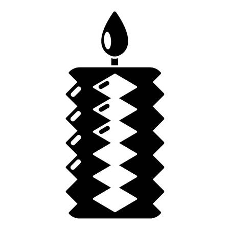 Candle decoration icon. Simple illustration of candle decoration vector icon for web
