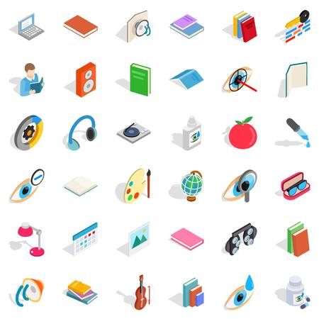 Medicine icons set. Isometric style of 36 medicine vector icons for web isolated on white background