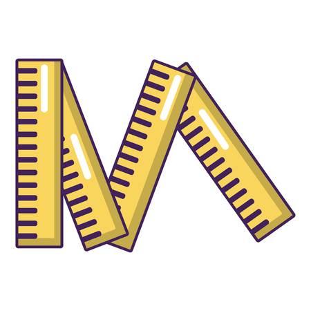 Line icon. Cartoon illustration of line vector icon for web. Illustration