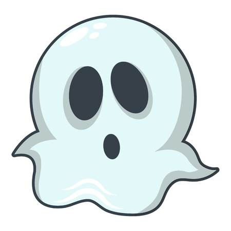 Ghost icon. Cartoon illustration of ghost vector icon for web Ilustrace