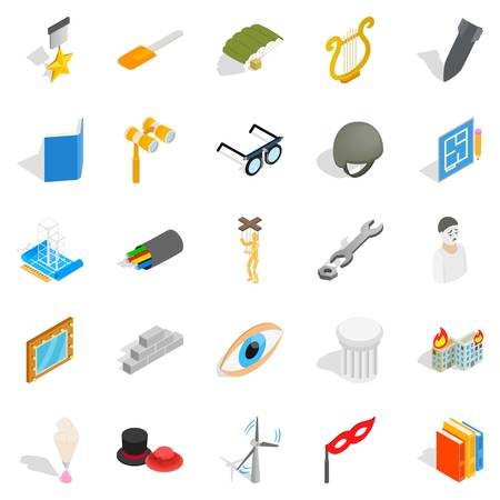 Making icons set. Isometric set of 25 making vector icons for web isolated on white background