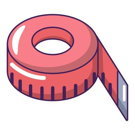 Tape measure icon. Cartoon illustration of tape measure vector icon for web.