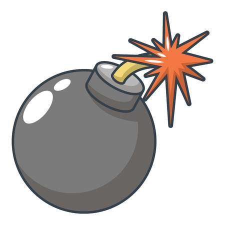 Bomb icon. Cartoon illustration of bomb vector icon for web