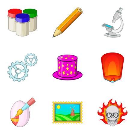 Great idea icons set, cartoon style