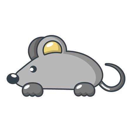 Mouse icon, cartoon style