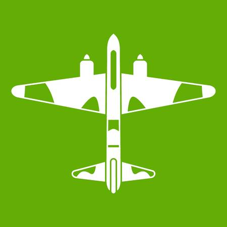 Military fighter aircraft icon in green