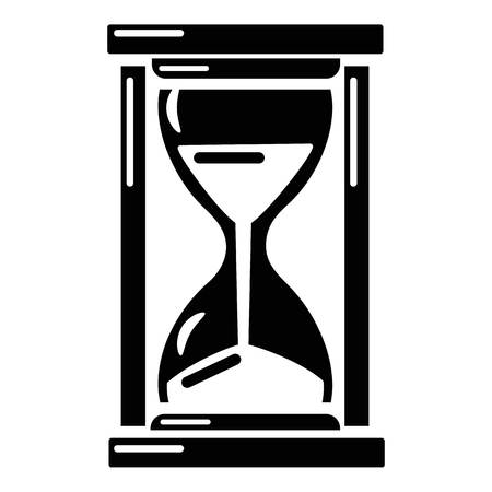 Hourglass icon, simple style. Illustration