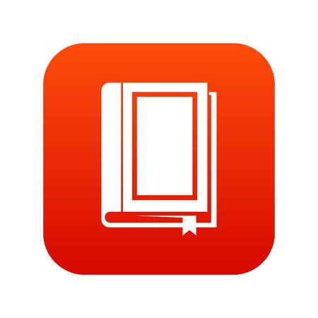 Book icon digital in red