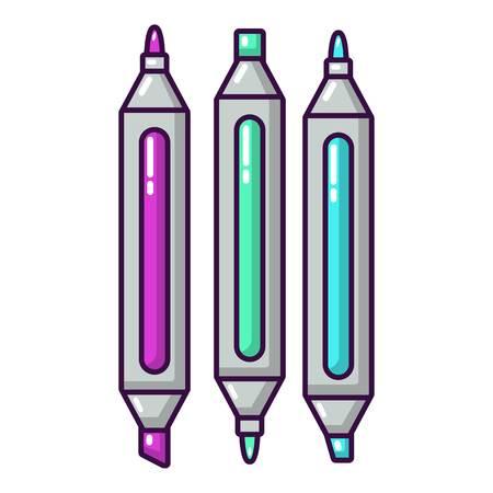 Marker pen icon, cartoon style