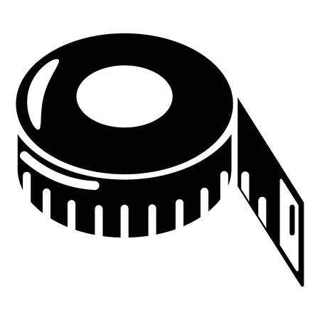 Tape measure icon, simple style.