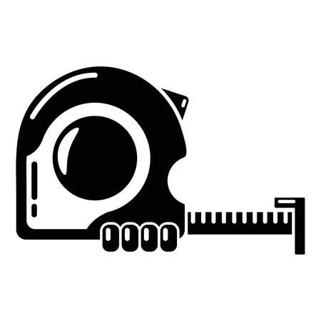 Maatstaf pictogram, eenvoudige stijl.
