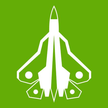 Military fighter plane icon green