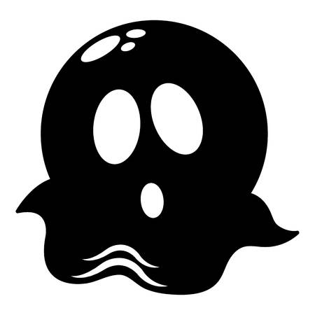 Ghost icon, simple black style