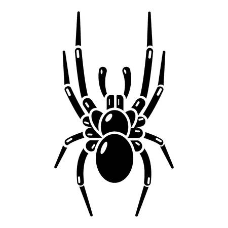 Spider icon. Simple illustration of spider vector icon for web
