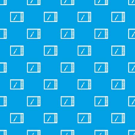 Graphics tablet pattern seamless blue Illustration