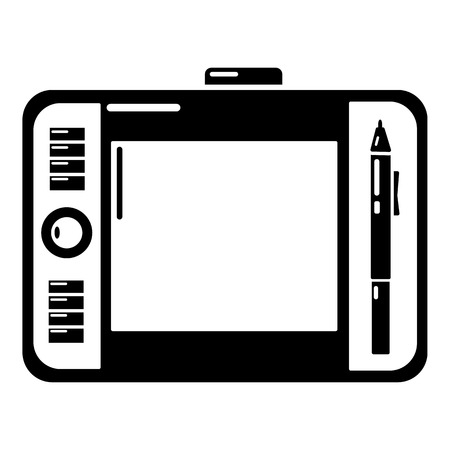 Simple illustration of graphic tablet vector icon for web. Ilustração