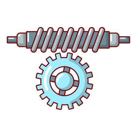 Cartoon illustration of worm gear vector icon for web. Vettoriali