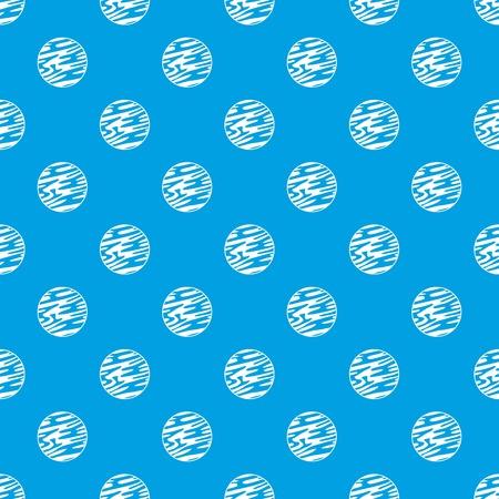 遠く離れた惑星パターンは、任意の設計ベクトル幾何学的イラストレーションのために青色でシームレスに繰り返します。  イラスト・ベクター素材