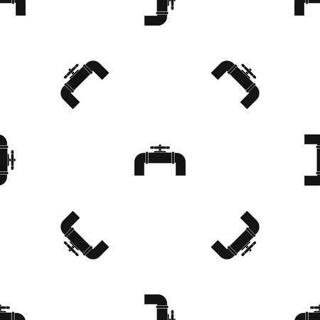 Industrial pipe valve pattern repeat seamless in black color for any design vector geometric illustration.