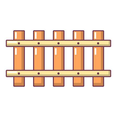 Cartoon illustration of fence old vector icon for web.