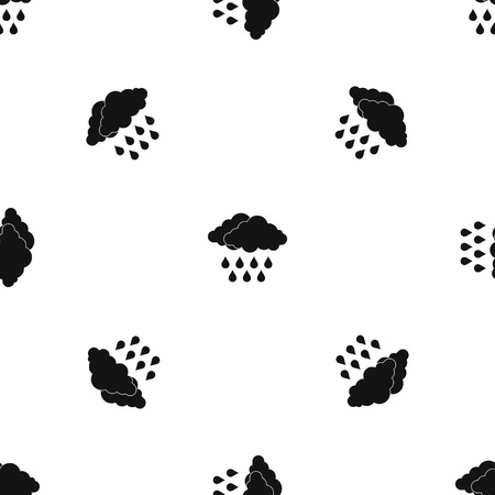 Cloud pattern repeat seamless in black color for any design. Vector geometric illustration