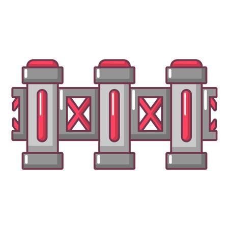 Fence urban icon. Cartoon illustration of fence urban vector icon for web Illustration