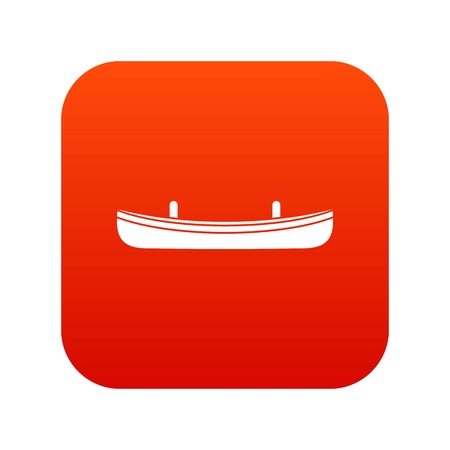 Small boat icon digital red for any design isolated on white vector illustration