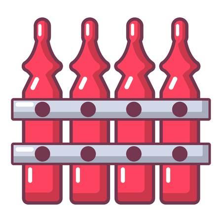 Hek dorp pictogram. Cartoon illustratie van hek dorp vector pictogram voor web Stock Illustratie