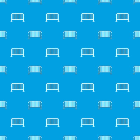 Steel barrier pattern repeat seamless in blue color for any design. Vector geometric illustration Illustration