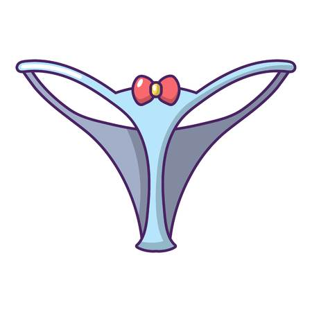 Underpants string icon, cartoon style