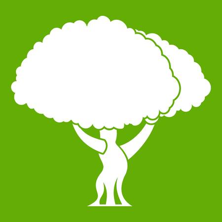 Tree icon green